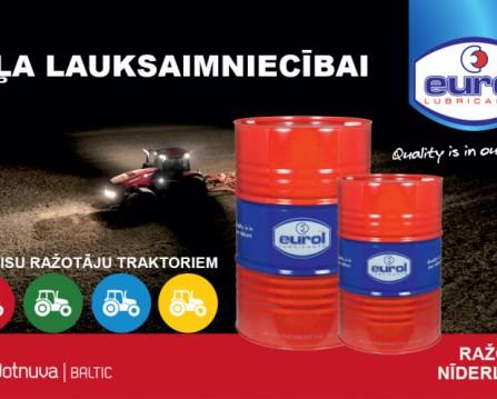 Dotnuva Baltic ir kļuvusi par pilnvaroto Eurol Agri oil pārstāvi.